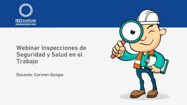 Webinar Inspecciones de Seguridad en el Trabajo
