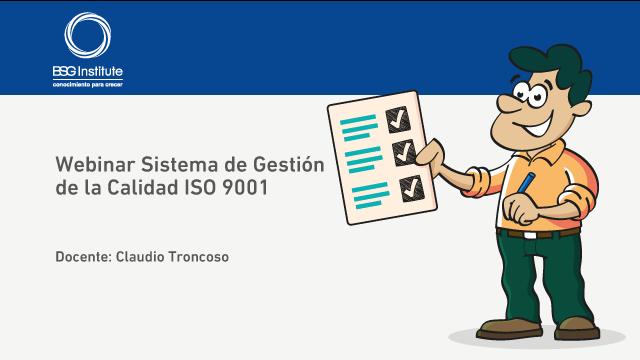 Webinar Sistema de Gestión de la Calidad ISO 9001
