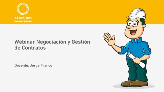 Webinar Negociación y Gestión de Contratos