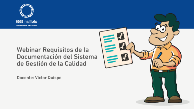 Webinar Documentación ISO 9001