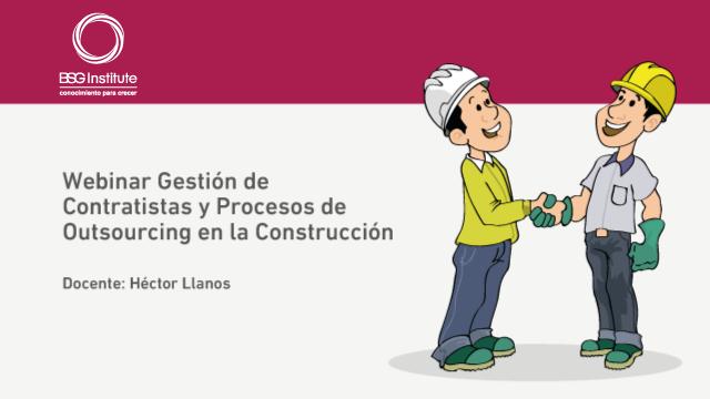 Webinar Procesos de Outsourcing en Construcción