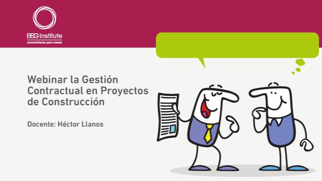 Webinar Gestión Contractual en Construcción