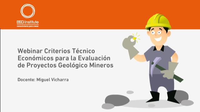 Webinar Evaluación de Proyectos Mineros